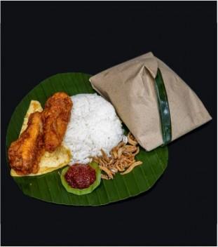 Traditional Nasi Lemak Kukus